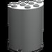 LEGO Light Gray Cylinder 2 x 4 x 4 (6218)