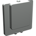 LEGO Light Gray Glass for Window 1 x 2 x 2 Plane (4862)