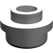 LEGO Light Gray Plate 1 x 1 Round with Open Stud