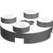 LEGO Light Gray Plate 2 x 2 Round with Axle Hole (with 'X' Axle Hole) (4032)