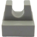 LEGO Light Gray Tile 1 x 1 with Clip (No Cut in Center) (2555)