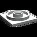 LEGO Light Gray Turntable 4 x 4 Base (3403)