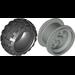 LEGO Light Gray Wheel 49.6 x 28 VR Assembly