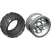 LEGO Light Gray Wheel Rim Ø30 x 20 Assembly with 3 Pin Holes