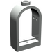 LEGO Light Gray Window 1 x 2 x 2.667 with Rounded Top (30044)