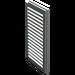 LEGO Light Gray Window 1 x 2 x 3 Shutter (3856)