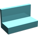 LEGO Light Turquoise Panel 1 x 2 x 1 without Rounded Corners