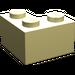 LEGO Light Yellow Brick 2 x 2 Corner (2357)