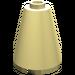 LEGO Light Yellow Cone 2 x 2 x 2 (Open Stud) (3942)