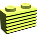 LEGO Lime Brick 1 x 2 with Grille