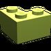 LEGO Lime Brick 2 x 2 Corner (2357)