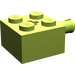 LEGO Lime Brick 2 x 2 with Pin and Axlehole (6232)