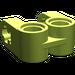 LEGO Lime Cross Block 2 x 2 Split (Axle / Twin Pin)
