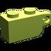 LEGO Lime Hinge Brick 1 x 2 Locking with Single Finger (Vertical) On End