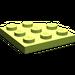 LEGO Lime Plate 3 x 3 Corner Round