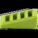 LEGO Citron vert Pente 1 x 2 x 0.6 (18°) avec Grille (61409)