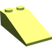 LEGO Lime Slope 18° 4 x 2 (30363)