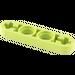 LEGO Lime Technic Beam 4 x 0.5 with Axle Hole each end (32449)