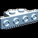 LEGO Maersk Blue Bracket 1 x 2 - 1 x 4 without Rounded Corners (2436)