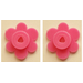 LEGO Magenta 4 Flower Heads on Sprue (3742)