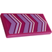 LEGO Magenta Tile 2 x 4 with  Lavender and White Chevrons Sticker