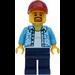 LEGO Man in Dark Azure Shirt Minifigure