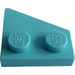 LEGO Medium Azure Wedge Plate 2 x 2 (27°) Left (24299)