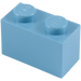 LEGO Medium Blue Brick 1 x 2 (3004 / 93792)