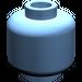 LEGO Medium Blue Plain Head (Recessed Solid Stud) (3626)