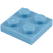 LEGO Medium Blue Plate 2 x 2 (3022 / 94148)