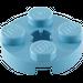 LEGO Medium Blue Plate 2 x 2 Round with Axle Hole (with 'X' Axle Hole) (4032)