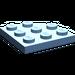 LEGO Medium Blue Plate 3 x 3 Corner Round