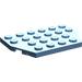 LEGO Medium Blue Plate 4 x 6 without Corners
