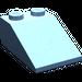 LEGO Medium Blue Slope 25° (33) 2 x 3 with Rough Surface (3298)