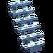 LEGO Medium Blue Staircase 7 x 4 x 6 Open