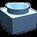 LEGO Medium Blue Support 2 x 2 x 11 Solid Pillar Base (6168)