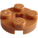 LEGO Medium Dark Flesh Plate 2 x 2 Round with Axle Hole (with '+' Axle Hole) (4032)