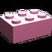 LEGO Medium Dark Pink Brick 2 x 3 (3002)