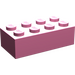 LEGO Medium Dark Pink Brick 2 x 4 (3001)