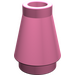 LEGO Medium Dark Pink Cone 1 x 1 without Top Groove (4589)