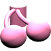 LEGO Medium Dark Pink Minifig Food Cherry (22667)