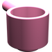 LEGO Medium Dark Pink Minifig Saucepan (4529)