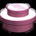 LEGO Medium Dark Pink Plate 1 x 1 Round (6141)