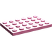 LEGO Medium Dark Pink Plate 4 x 6 (3032)