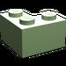LEGO Medium Green Brick 2 x 2 Corner (2357)