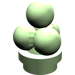 LEGO Medium Green Minifig Ice Cream Scoops (6254)