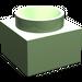LEGO Medium Green Support 2 x 2 x 11 Solid Pillar Base (6168)