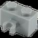 LEGO Medium Stone Gray Brick 1 x 2 with Vertical Clip (Open 'O' clip) (30237 / 42925)