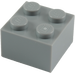 LEGO Medium Stone Gray Brick 2 x 2 (3003)