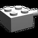 LEGO Medium Stone Gray Brick 2 x 2 with Pin and No Axle Hole